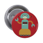 Roller Robot Flair Button at Zazzle