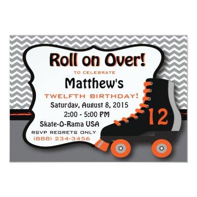 funky girls roller skating birthday party card zazzlecom - Roller Skating Birthday Party Invitations