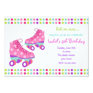 Roller Skate Birthday Party Invitations