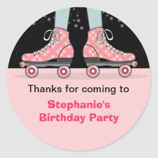 Roller Skate Birthday Party Thank You Sticker