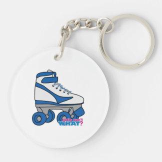Roller Skate - Blue Keychain