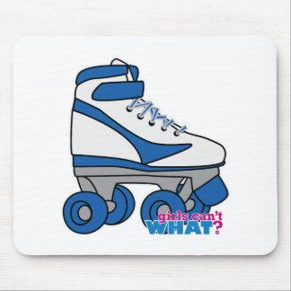 Roller Skate - Blue Mouse Pad