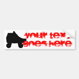 roller skate bumper sticker