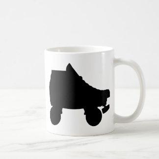 roller skate classic white coffee mug