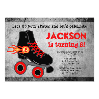 Roller Skate Extreme Boy's Birthday Invitation