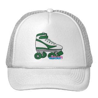Roller Skate - Green Trucker Hat