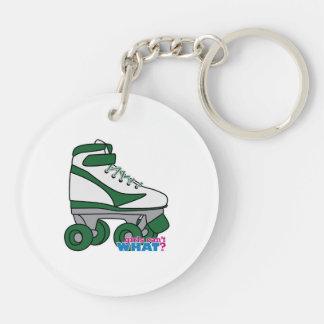 Roller Skate - Green Keychain