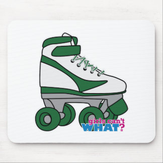 Roller Skate - Green Mouse Pad