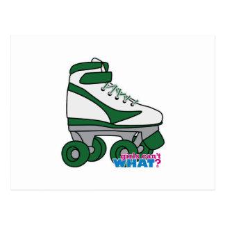 Roller Skate - Green Postcard