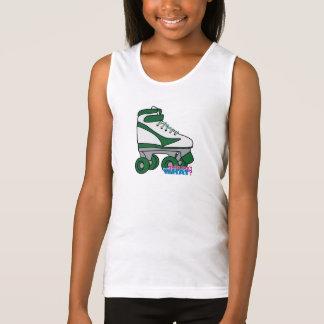 Roller Skate - Green Tank Top
