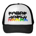 roller skate grunge rainbow trucker hat