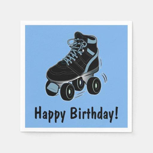 Roller Skate Happy Birthday Napkin Zazzle