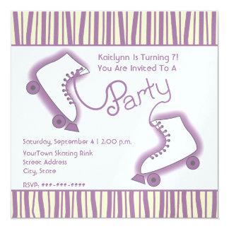 Roller Skate Party Birthday Invitation