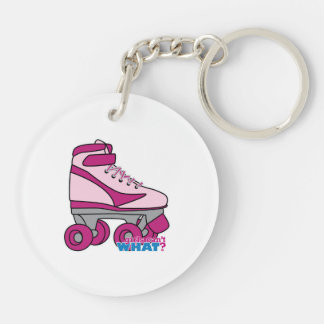 Roller Skate - Pink Keychain