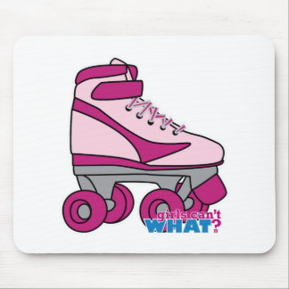 Roller Skate - Pink Mouse Pad