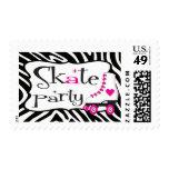 Roller Skate Postage Stamp