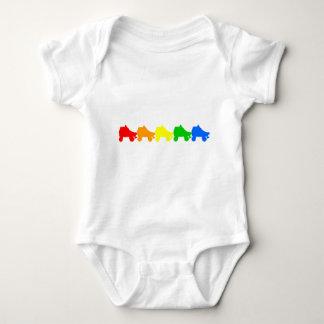 roller skate rainbow baby bodysuit