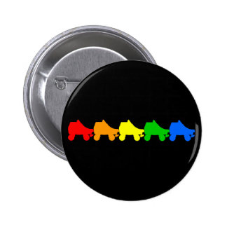 roller skate rainbow button