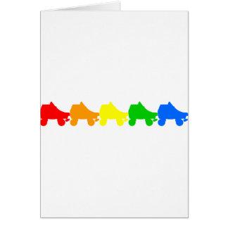 roller skate rainbow cards