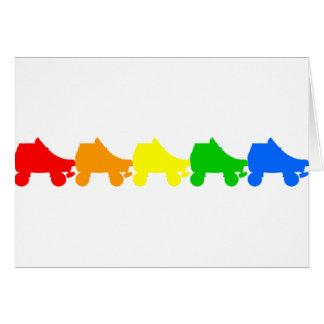 roller skate rainbow greeting cards