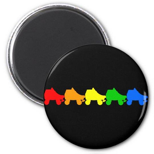 roller skate rainbow magnet