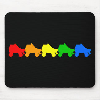 roller skate rainbow mouse pad