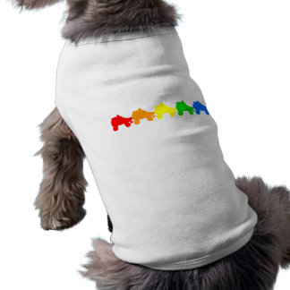 roller skate rainbow pet clothes