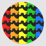 roller skate rainbow stickers