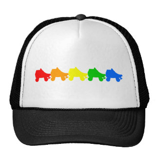 roller skate rainbow trucker hats