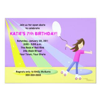 "ROLLER SKATE Rollerskating 5x7 Birthday 5"" X 7"" Invitation Card"