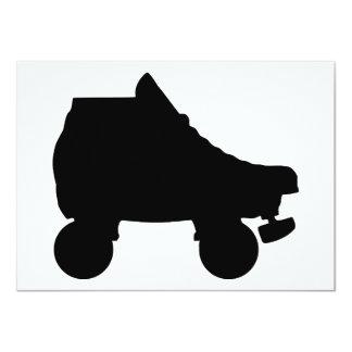 roller skate sillouette card