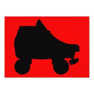 """roller skate sillouette 4.5"""" x 6.25"""" invitation card"""