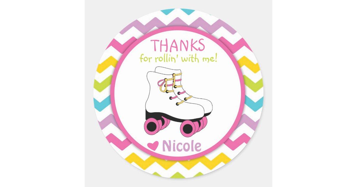 Roller Skate Stickers / Roller Skate Favor Tags | Zazzle