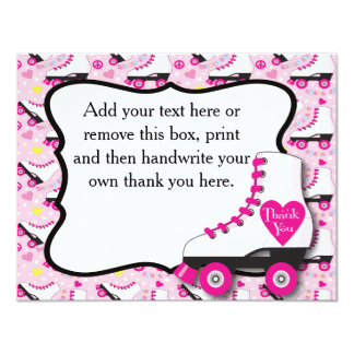 Roller Skate Thank You Card #2