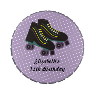 Roller Skates Birthday Candy Tins