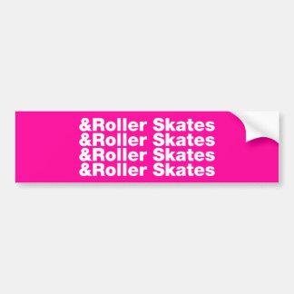 & Roller Skates Car Bumper Sticker