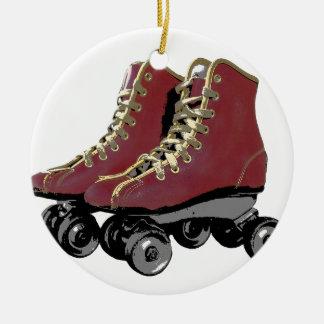 Roller Skates Ceramic Ornament