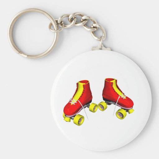 roller skates red key chains