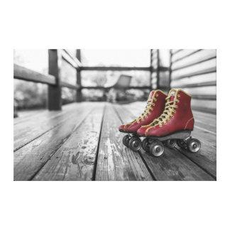Roller Skates Stretched Canvas Print