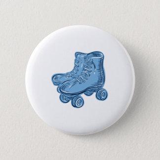 Roller Skates Vintage Etching Pinback Button
