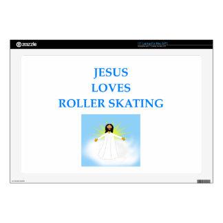 "roller skating 17"" laptop decal"