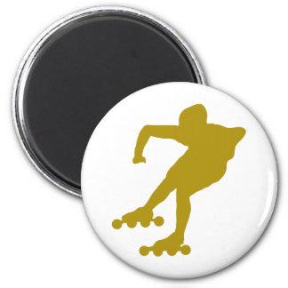 roller-skating-2 2 inch round magnet