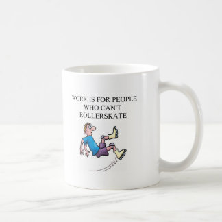 roller skating accident classic white coffee mug