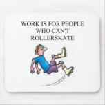 roller skating accident mouse pad