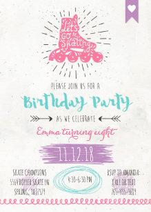 Roller Skating Birthday Invitatio Invitation