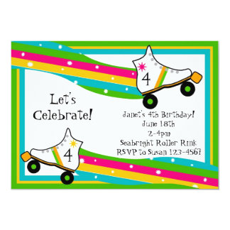 Roller Skating Birthday Invitation