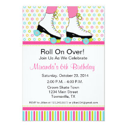 Skate party invitations announcements zazzle roller skating birthday party invitation filmwisefo Gallery