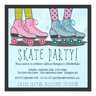 Skate Party Invitations Announcements Zazzle