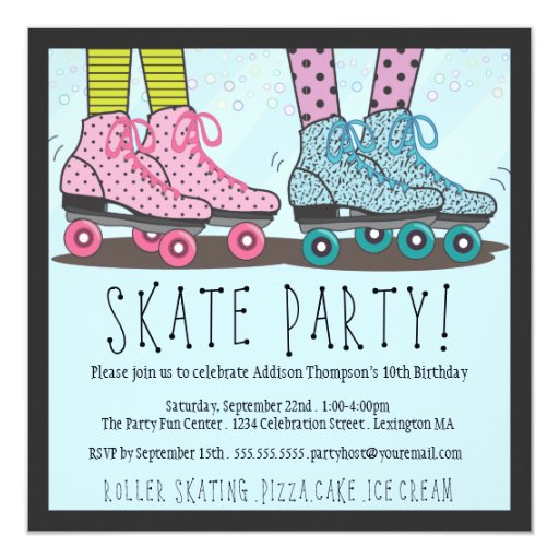 Skate Party Invitation for best invitation design