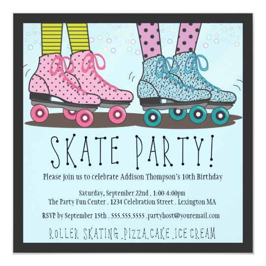 Roller skating birthday party invitation zazzle roller skating birthday party invitation filmwisefo